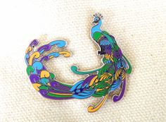 Bassnectar Hat Pin  Peacock by ELISden on Etsy, $15.00