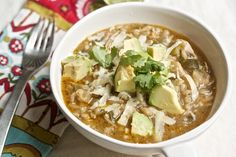 Healthy Chicken Chili with Avocado