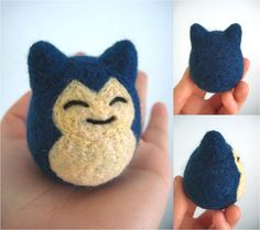 I want to hug it! Felted Snorlax #pockemon
