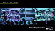 1 minute Projection Mapping / International mapping competition in MEDI-...