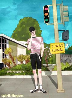Webtoon | Finger Spirit Anime Guys, Manga Anime, Anime Art, Spirit Fingers Webtoon, Korean Illustration, Webtoon Comics, Mystic Messenger, Manhwa, Cool Art