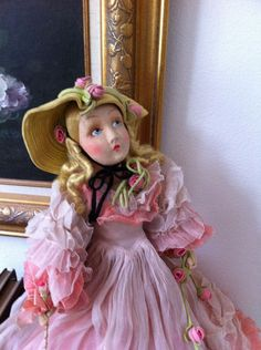 RARE Cloth Vintage Antique Lenci Raynal Venus Boudoir Lady Lillian Gish Doll