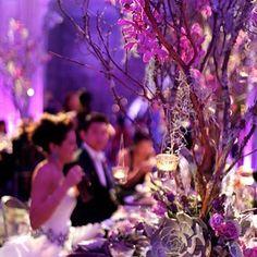 Sheer elegance! Outstanding lighting highlights this venue brilliantly. Great photo via #daughterofdesign