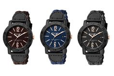 Bvlgari Bvlgari Carbon Gold Arrives With New Woven Leather Strap