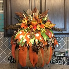 A personal favorite from my Etsy shop https://www.etsy.com/listing/479833099/fall-wreath-fall-harvest-wreath-pumpkin