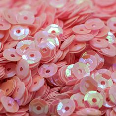 1 OZ Package SEQUINS 6mm AB Light Pink Round Cup Paillettes