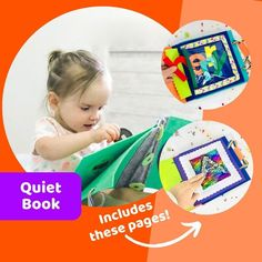 Tinyfeats Grow-with-Me Quiet Book for preschoolers includes educational activities for 2 year old girls and boys Quiet Time Activities, Activities For 2 Year Olds, Fun Activities For Toddlers, Name Activities, Educational Activities, Learn To Spell, Felt Letters, Preschool Books, Quiet Books
