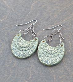 Clay Shield Chain Earrings   Jewelry Earrings   Natasha J Collection   Scoutmob Shoppe   Product Detail