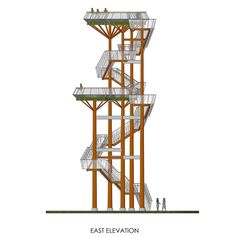 Gallery of Observation Tower / Arvydas Gudelis - 1 Image 1 of 32 from gallery of Observation Tower / Arvydas Gudelis. Courtesy of Arvydas Gudelis Education Architecture, Classical Architecture, Concept Architecture, Landscape Architecture, Landscape Design, Architecture Design, Lookout Tower, Tower Design, Old Mansions