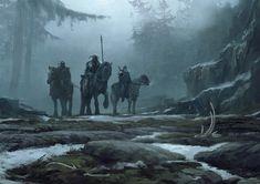 Fantasy Forest, Medieval Fantasy, Fantasy World, Dark Fantasy, Armadura Medieval, Legends And Myths, Matte Painting, Comic, Environment Concept Art