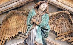 Detail of Angel, Claus Sluter, Well of Moses, 1395-1405