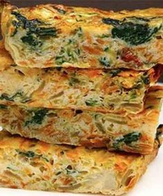 VEGETABLE FRITTATA SLICE