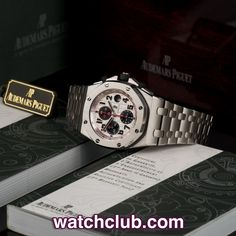 AUDEMARS PIGUET Royal Oak Offshore - 'Panda Dial' REF: 26170ST.OO.1000ST.01 | Year Mar 2011 Nicknamed the 'Panda' by AP fans around the world. Fitted to a steel bracelet, the Offshore is the rugged big brother of AP's iconic Royal Oak. Immediately identifiable by the rubber coated crown and chrono pushers, our Offshore sports a silver mega tappisserie dial with black sub dials and red tachymetre - for sale at Watch Club, 28 Old Bond Street, Mayfair, London