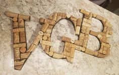 Hanging Wine Cork Letter / Wine Cork Initial / Home Decor / Wine cork monogram / House warming gift / Bar decor / Kitchen decor / Wall decor Wine Cork Monogram, Wine Cork Letters, Wooden Letters, Wine Cork Jewelry, Wooden Initials, Wine Decor, House Warming, Lettering, Bar