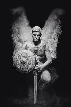 Fallen Angel Sebastian Sauve photographed by Livia Alcalde and styled by Pablo Patane, for the January 2015 issue of L'Officiel Hommes Greece. Male Angels, Angels And Demons, Male Fallen Angel, Guerrero Tattoo, Art Masculin, The Happy Prince, Greece Fashion, Angel Falls, Angel Warrior