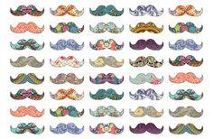 New Miniature Printables | Mustache Mania Art Print by Bianca Green | Society6