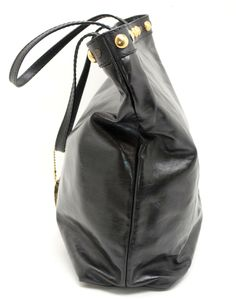 a8d2d5b69ac  599-  Gucci Black  Leather Studded Shoulder Tote. Pre-loved in excellent