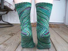 "Free Sock Knitting Pattern -  ""Skew"" by Lana Holden"