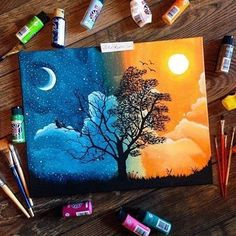 35 Stunning and Beautiful Tree Paintings for your inspiration - Art Sketches - Art Journal Inspiration, Painting Inspiration, Art Inspo, Design Inspiration, Journal Ideas, Daily Inspiration, Design Ideas, Painting & Drawing, Painting Walls