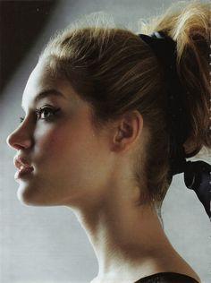fabulous lashes & full top knot.