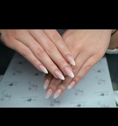 French Fade / Baby Boomer Almond Nails …
