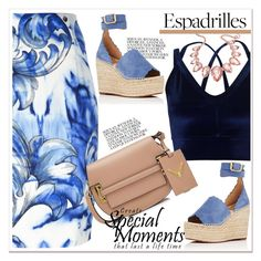 """""""Step into Summer: Espadrilles"""" by spenderellastyle ❤ liked on Polyvore featuring Versace, Miss Selfridge, Valentino, Thalia Sodi, Chloé and espadrilles"""