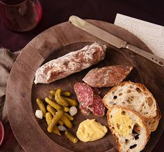 Charcuterie Board With Olli Salame, Cornichons, Mustard Charcuterie Cheese, Charcuterie Board, Cold Cuts, Cheese Plates, Cheese Boards, Brunch Party, Meat And Cheese, Food Platters, Creative Food