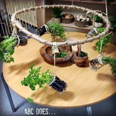 suspended herb hoop