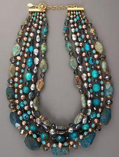 JOSE AND MARIA BARRERA JEWELRY NORDSTOM | Jose and Maria Barrera Turquoise and Pearl Necklace / $715.00 this is ...