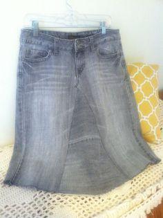 Jean Skirt by WhimsicalJeanSkirts on etsy