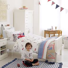 Cute fresh kids bedroom from The White Company