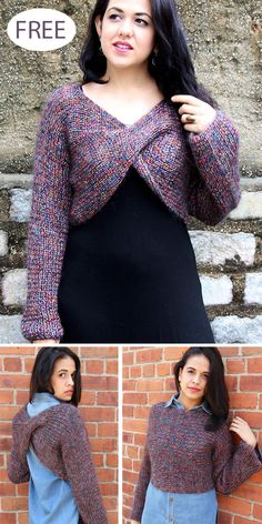 Twisted Top Knitting Patterns Twisted Top Knitting Patterns,Stricken, Häkeln und Spinne Free Knitting Pattern for Criss-Cross Shrug – Bolero knit from side-to-side in one piece with a fabric twist in the front. The shrug. Shrug Knitting Pattern, Bolero Pattern, Knit Shrug, Sweater Knitting Patterns, Top Pattern, Knit Patterns, Free Knitting, Criss Cross, Easy Knit Blanket