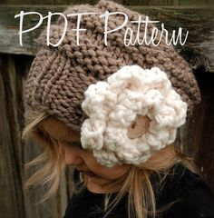 This is a listing for The PATTERN ONLY for The Sophia Slouchy    This hat is handcrafted and designed with comfort and warmth in mind... Perfect