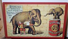 Circus Elephant Lot 3 Tin Signs Americana Theme Set 3 Free Shipping Set