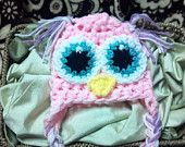 Excellent photo prop or baby shower gift!! Photographers I offer 25% off my whole shop on every order if you agree to send back photos for use in my shop!! Come look! Www.etsy.com/shop/bellamariesboutique   Newborn Owl hat baby RUSH Adorable Wide Eyed earflap awake Girl Boy Hoot Any Size or Color Photo Studio Prop Hats 0-3 3-6 6-12 toddler child