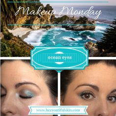"""The key to blue eyeshadow is to pair it with sophisticated neutrals, allowing the blue to be a """"pop"""" of color set against a background of mellow grays or browns."""