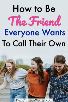 Do you want to be a good friend to others? Perhaps you are looking for an amazing best friend who will make a lifelong friend and trustworthy source of advice and venting! Here are some Biblical steps to be the friend everyone wants to call their own. #bibleadvice #biblewisdom #christianwomen #friendship #bff #bestfriends #biblestudy Christian Friends, Christian Women, Lifelong Friends, Great Friends, Bestfriends, Bff, Dig Deep, Life Advice, Prayers