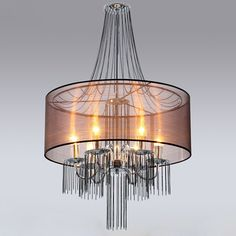Candelabra Chandelier with Semi-Transparent Shade - Chandeliers - Ceiling Lights - Lighting