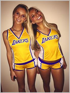 Hot Girls Night Out pics) Easy College Halloween Costumes, Couple Halloween, Halloween Halloween, Chive Girls, Lakers Girls, Cute Cheer Pictures, Cute Cheerleaders, Girl Costumes, Easy Costumes