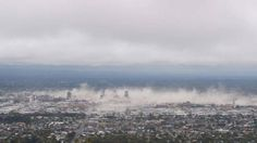 12.51pm on February 22nd 2011, taken from the Port Hills at the moments soon after the earthquake