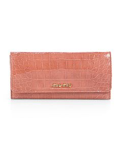 Miu Miu Embossed Leather Continental Wallet