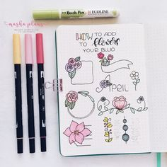 Are you thinking to have floral Bullet Journal setup next month? You're probably already planning out how to add flowers to your Bullet Journal layout. Check these 7 ideas and easily create beautiful floral Bullet Journal pages! Bullet Journal Dividers, Bullet Journal Headers, Bullet Journal Banner, Bullet Journal Notes, Bullet Journal Ideas Pages, Bullet Journal Spread, Bullet Journal Layout, Bullet Journal Inspiration, Journal Pages