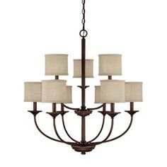 Capitol lighting 9 light chandy $338, also available in 5 light for $198