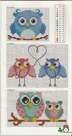 owl pattern cross stitch by Mudgey Cross Stitch Owl, Cross Stitch Animals, Cross Stitch Charts, Cross Stitch Designs, Cross Stitching, Cross Stitch Embroidery, Cross Stitch Patterns, Owl Patterns, Beading Patterns