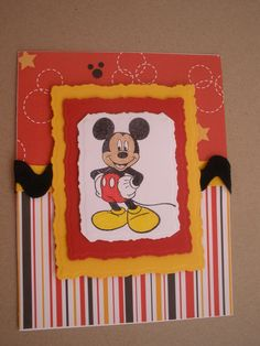 Handmade Mickey Mouse Birthday Card with by GreetingsfromDiana, $5.00