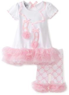 Mud Pie Baby-Girls Newborn Tiny Dancer Ballet Shoe Tunic And Capri Leggings, Pink/White, 0-6 Months Mud Pie. $24.54