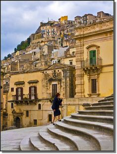 """ Going to the Mass - Ragusa, Sicily 