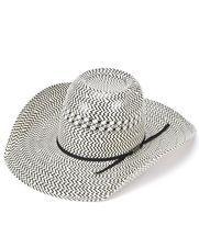 Americano Straw Cool Hand Luke Cappello da cowboy piega - nastro nero fd075e5b8fae