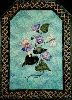 """Moring Glory's Light ~ Directions for x wall quilt. The """"Intention of Love"""" gives the soul power to create all that is needed in each moment! Applique Quilt Patterns, Fairy, Create, Wall, Flowers, Painting, Painting Art, Walls, Paintings"""