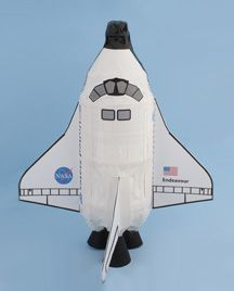 Make a space shuttle from a 2L (or 1.5L) drink bottle